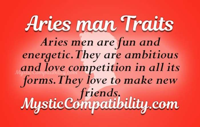 Aries Man Personality Traits - Mystic Compatibility
