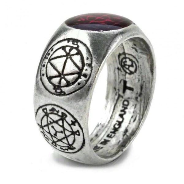 Agla Word Of God Pewter Ring - Kaballah Qaballah Jewelry