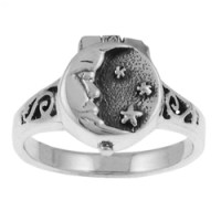 Moon and Stars Poison Ring