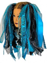 turquoise and black gothic ribbon