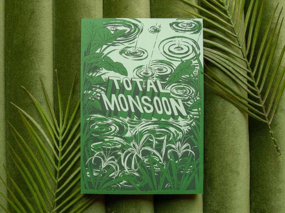 "Endless Monsoon anthology ""Total Monsoon"" green front cover with swamp scene and plastic fern leaves"