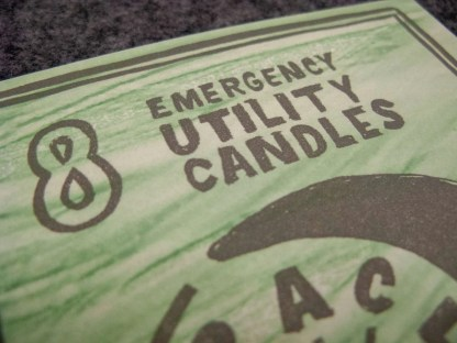 """Detail reading """"8 Emergency Utility Candles"""""""