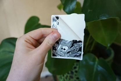 Sticker peeling