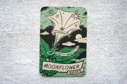Moonflower seed art print