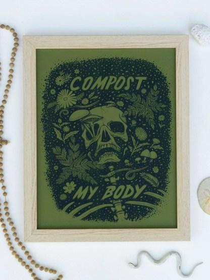 Framed risograph print