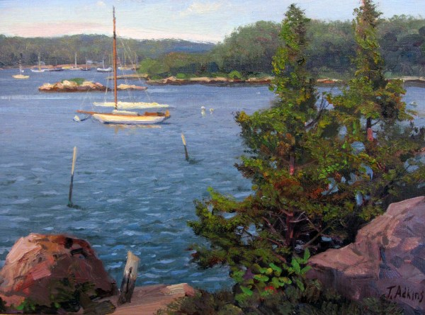 Maritime Artists Paint En Plein Air Mystic