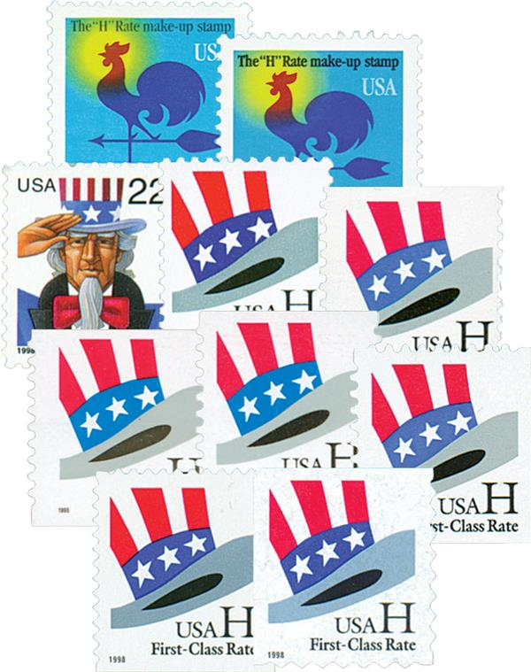 G Rate Series Set Of 17 For At Mystic Stamp Company