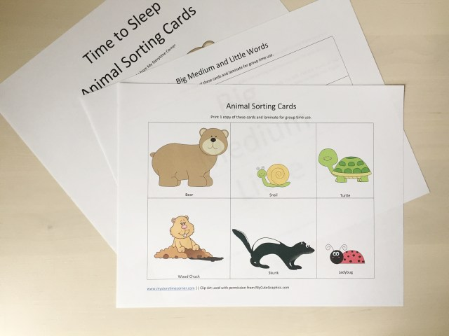 Bear Story Time for Preschoolers Printables