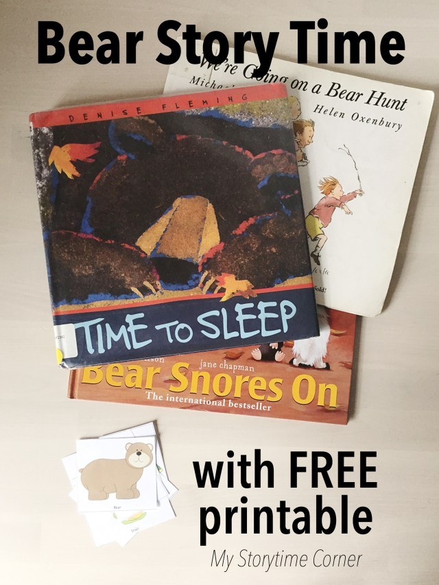 Bear Story Time for Preschoolers with free Printable