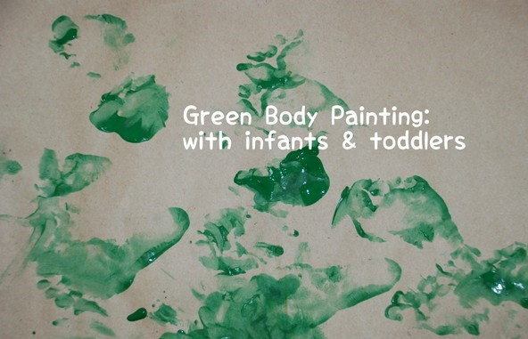 Green Painting for St Patrick's Day