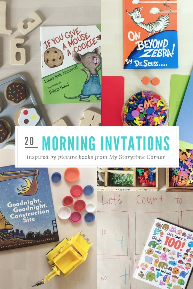 20 morning invitations inspired by childrens picture books