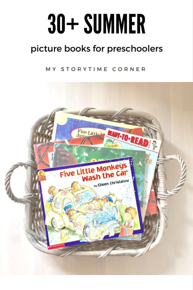 30 Summer Picture Books for Preschoolers | August a Read a Day Reading Challenge Book Ideas