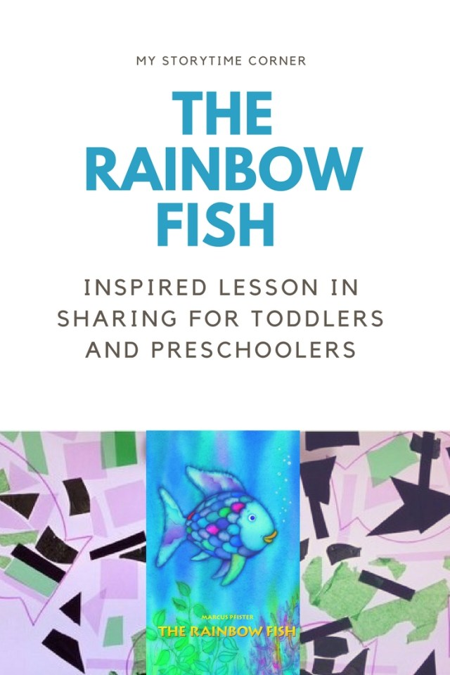 The Rainbow Fish Inspired Lesson on Sharing for Toddlers uses the Light Table