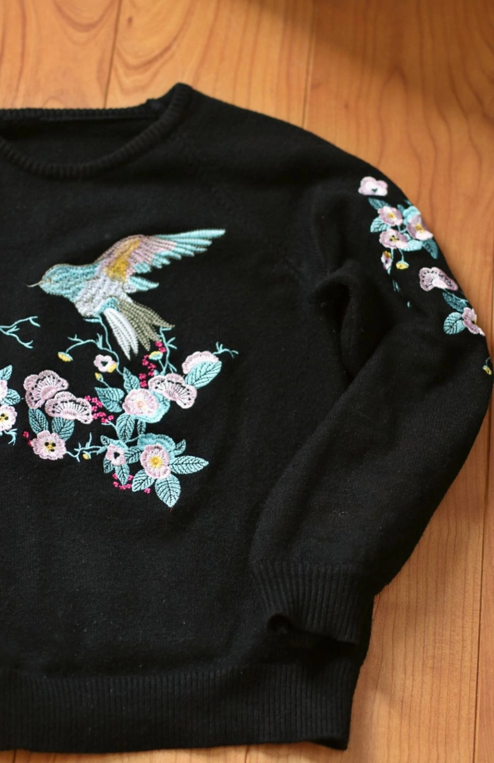embroidered women's sweater