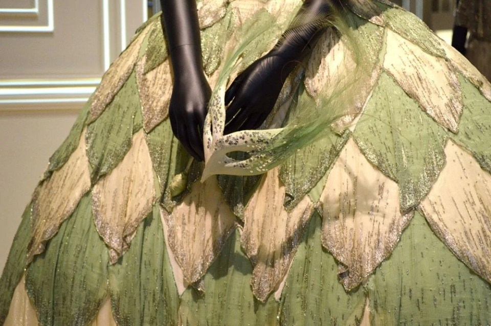 Christian Dior Feathered Dress Detail