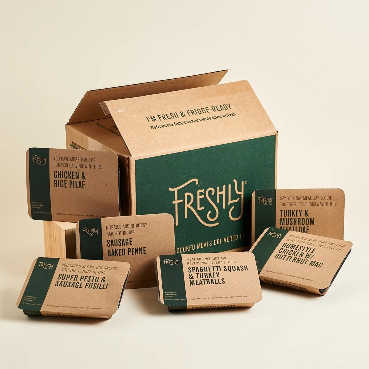 Example of sustainable food packaging