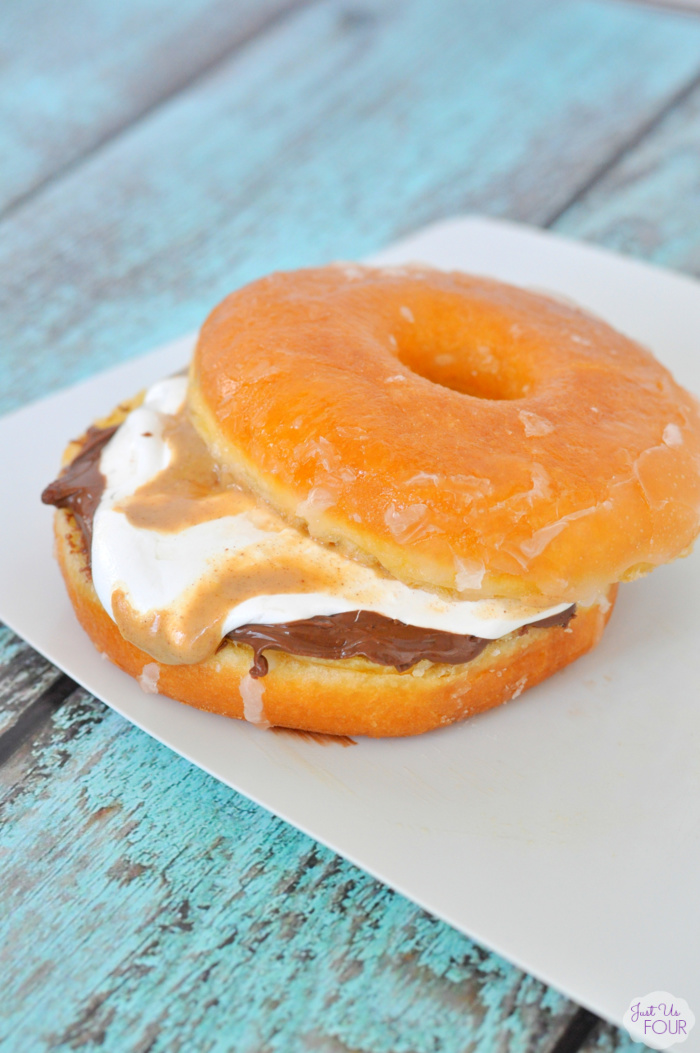 Peanut Butter Nutella Donut Sandwich {My Suburban Kitchen}
