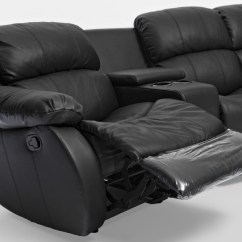4 Seater Recliner Sofa King Size Beds Uk Nikki Black Leather Home Theatre Lounge Suite