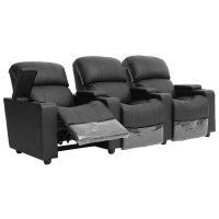 Sophie Brand New Leather 3 Seater Recliner Home Theater ...