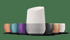 Google Home et ses différents coloris