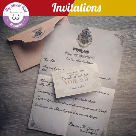 invitation harry potter francais