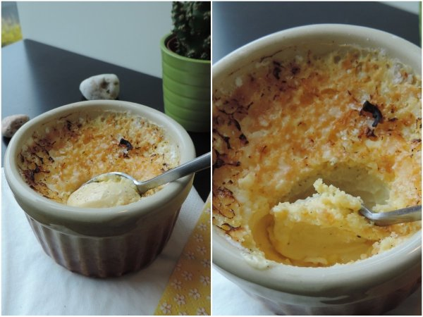 Let the creme brulee sit for a couple of minutes before serving. Enjoy every bit of it!