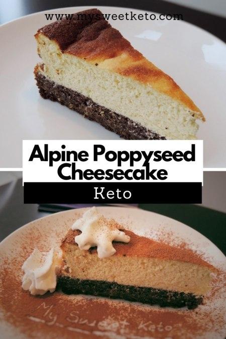 Keto Alpine Poppyseed Cheesecake - Trust me, this Keto Recipe is really worth the effort! #keto #ketogenic #ketodiet #ketodessert #recipe