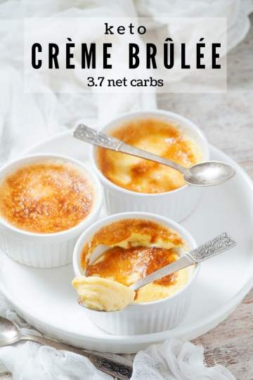 I represent you the ultimate keto crème brûlée. I've tried to keep it as close to the original as possible. This Keto Egg Custard is delicious. With just 3.7 net carbs! #keto #ketogenic #lowcarb