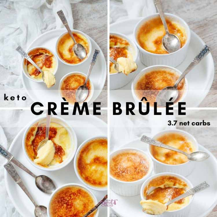 I represent you the ultimate keto crème brûlée. I've tried to keep it as close to the original as possible. This Keto Egg Custard is delicious. With just 3.7 net carbs! #keto #ketogenic #lowcarb #ketodiet #ketofam