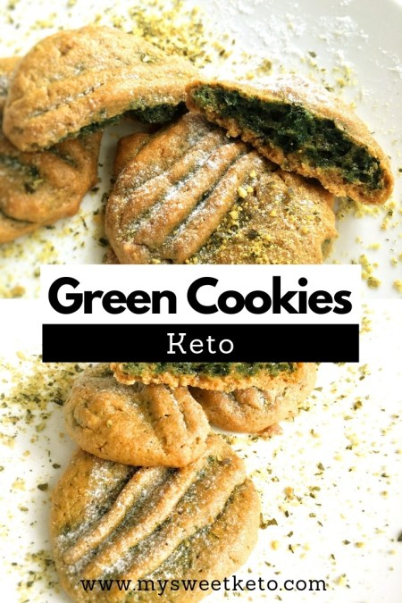 Keto Green Cookies - They are very easy and quick to make. #keto #ketodiet #ketodessert