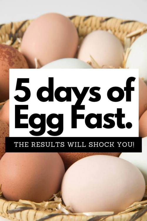 5 days of egg fast. The results will shock you.