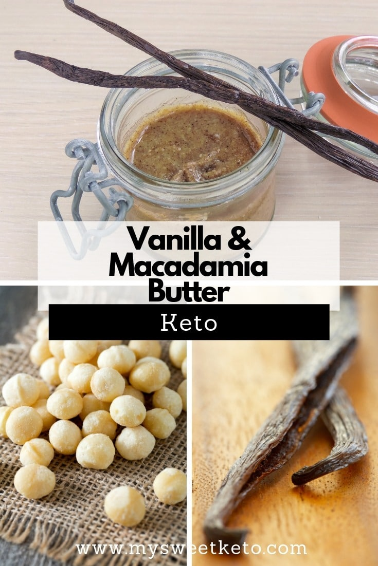 I'm using macadamia in this Vanilla butter recipe, for its health benefits, low net carb count, and absolutely delicious taste. #keto #ketodiet #ketogenic #lowcarb #recipe