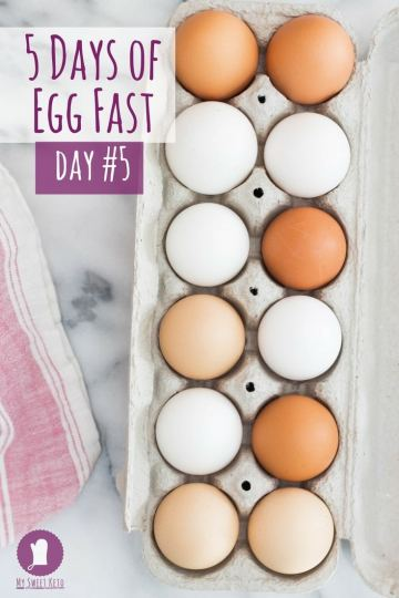 Egg Fast Five Days Day #5. Egg Fast Five Days Day #5. How many eggs do you eat on an egg fast? Can you lose weight by eating only eggs? Is egg fast safe? Learn how to break a weight loss plateau using egg fast!