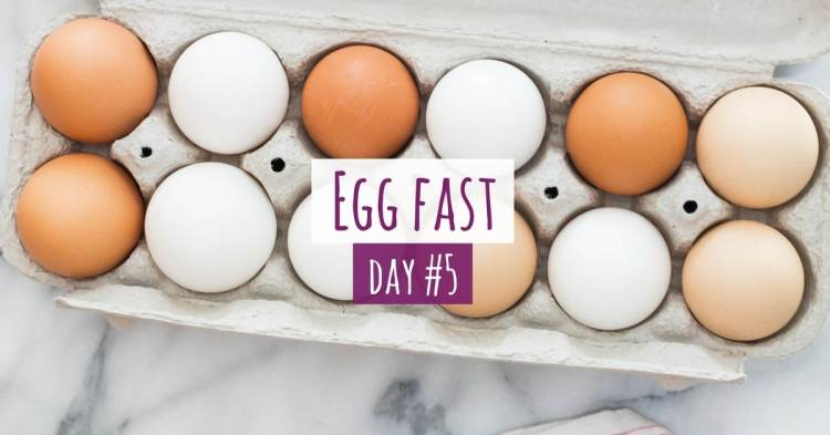 Five Days of Egg Fast Keto Day #5