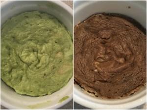 keto avocado cake from a mug