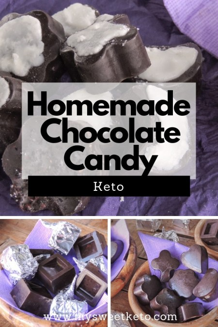 Homemade Chocolate Candy Keto Recipe. Tired of looking for keto-friendly candy? Well, I sure was before I started making my own homemade chocolate candy. #keto #ketodiet #lowcarb #ketochocolate #ketodessert