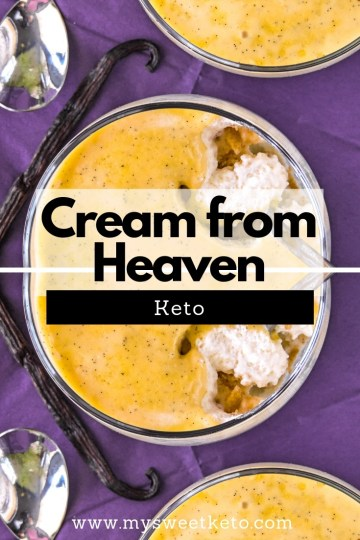 Natas do Ceu is Portuguese for Cream from Heaven. It's one of the country's most traditional desserts. This is a recipe for KETO version. #keto #ketodiet #lowcarb #dessert #recipe