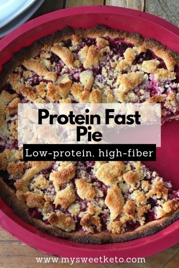 Protein Fast Pie Recipe. The pie is high-fat! If you are avoiding too much protein, and don't mind a few extra carbs, go for this low-protein high-fiber pie. #keto #ketoicecream #ketogenic