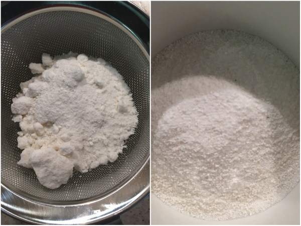 Sieve the coconut flour to get rid of any lumps.