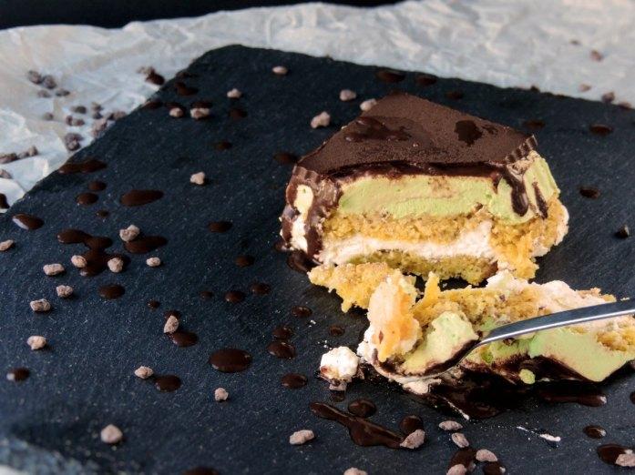 Keto frozen matcha cake recipe