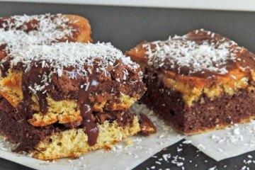 Black and white sponge cake recipe