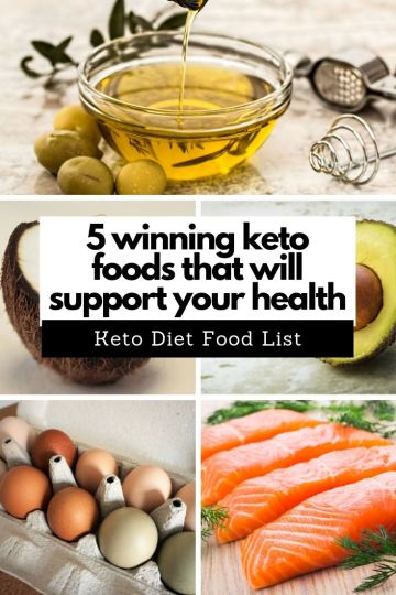 5 winning keto foods that will support your health. Keto Diet Food List. #ketodiet #keto #ketogenic