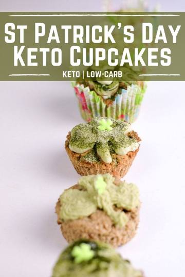 If you celebrate March 17th, try the St Patrick's Day Keto Cupcakes. No grains, no artificial colors. Perfectly guilt-free keto cupcakes!