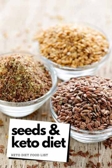 Seeds on keto add versatillity, crunch, and fiber to your keto foods. However, you want to consume them in moderation because of Omega-6 PUFA's. #ketogenic #keto