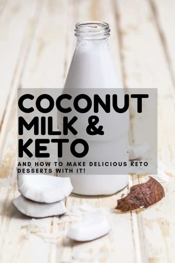 Whether you're using coconut milk to replace dairy milk as a drink or in baked goods or making some other delicious keto dessert with it, it's a great way to get a lot of fat! The MCTs in coconut milk are great for your health and great for making a lot of keto desserts!