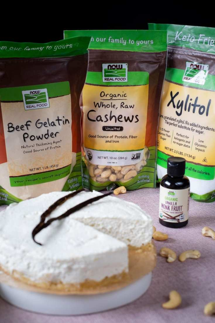 No Bake Low Carb Vanilla Cheesecake recipe by My Sweet Keto #lowcarb #keto #ketoingredients
