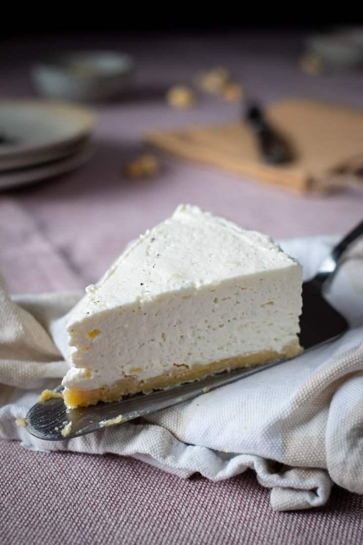 No Bake Low Carb Vanilla Cheesecake recipe by My Sweet Keto #lowcarb #ketosis #ketodessert