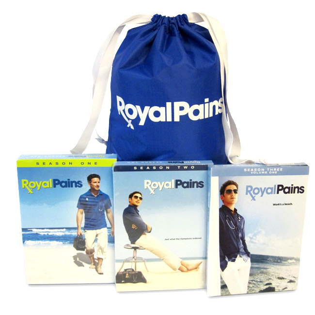 giveaway royal pains s1 s3 1 on dvd my take on tv. Black Bedroom Furniture Sets. Home Design Ideas