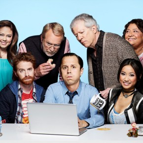 DADS: Cast L-R: Vanessa Lachey, Seth Green, Martin Mull, Giovanni Ribisi, Peter Riegert, Brenda Song and Tonita Castro. The new FOX comedy DADS premieres Tuesday, Sept. 17 (8:00-8:30 PM ET/PT) on FOX. ©2013 Fox Broadcasting Co. Cr: FOX