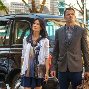 """Step Nine"" – London calling! ELEMENTARY stars Jonny Lee Miller (right) and Lucy Liu (left) begin filming season 2 on the banks of the Lower Thames in London. Get ready for more Sherlock Holmes and Watson, Thursday, Sept. 26 (10:00-11:00pm ET/PT) on the CBS Television Network. Photo: Joss Barratt /CBS ©2013 CBS Broadcasting, Inc. All Rights Reserved"